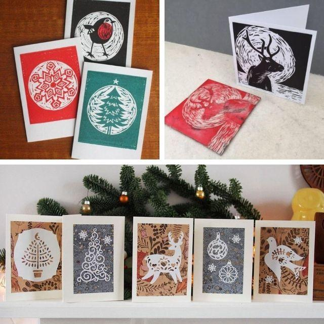 Christmas Card Printing Workshop with Janet Lueck at Cornerstone Arts Centre, Didcot