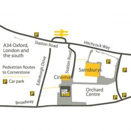 Map showing location of Cornerstone within Didcot