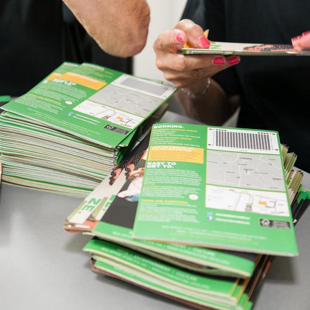 Pile of Cornerstone brochures