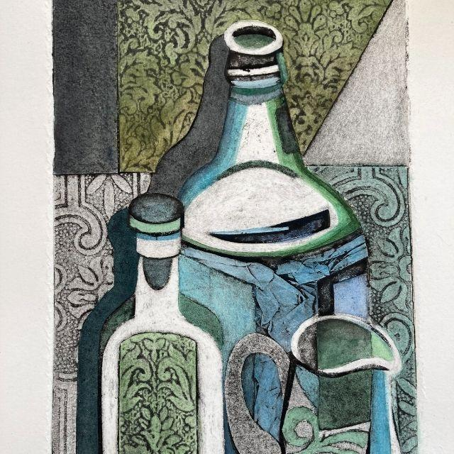 'Celebrating the Beauty of Print' a solo exhibition by Janet Lueck at Cornerstone Arts Centre, Didcot