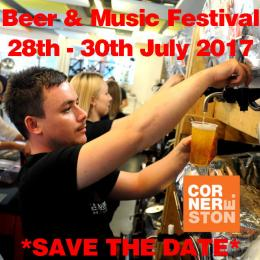 Beer & Music Festival at Cornerstone Arts Centre. Save the date.